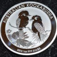 2013 Kookaburra 1 1 185x185 - 2013 Australian Kookaburra 1oz Fine Silver Coin