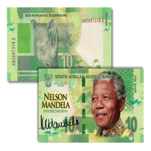 Mandela Colorized R10 1 300x300 - South Africa GEM UNC Ten Rand Colorized Mandela LEGAL TENDER