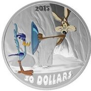 Road Runner A 185x185 - 2015 $30 Canada Looney Tunes Fast & Furry-ous 2oz Pure Silver Coin