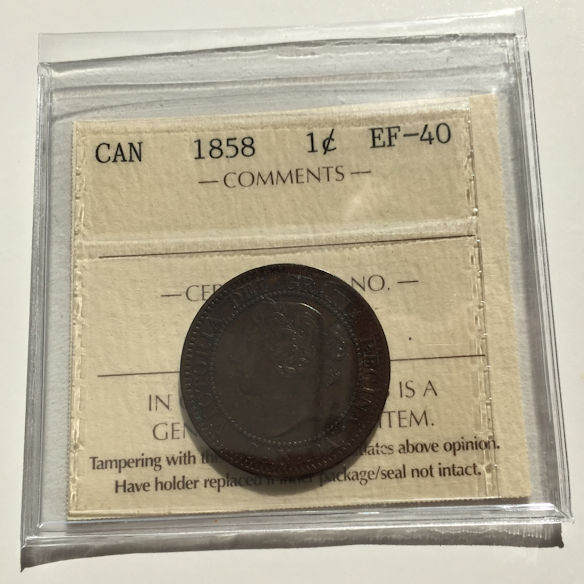 1858 EF40 1 - 1858 Canada Large Cent ICCS EF-40