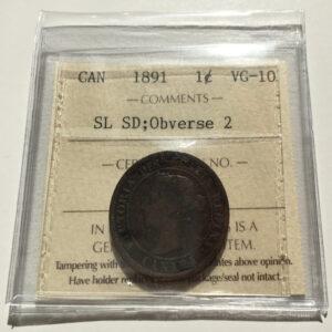 1891 OBV2 SLSD VG10 1 300x300 - 1891 canada Large Cent SDSL Obv2 VG-10