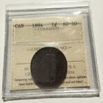 1894 AU50 1 150x150 - 1894 Canada Large Cent ICCS AU-50