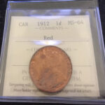 1912 MS 64R OBV 1 150x150 - 1912 Canadian Large Cent Penny ICCS Graded MS-64 RED