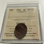 1932 AU55 1 150x150 - 1932 Canada 1-cent Penny ICCS Graded AU-55