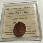 1965 SBP5 MS63R 2 150x150 - 1965 Canada One-cent Penny ICCS Graded MS63 RED SBP5 (Variety #1)