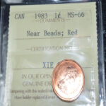 1983NB MS66 1 150x150 - 1983 Canada Penny ICCS MS-66 RED **Scarcer Near Beads Variety