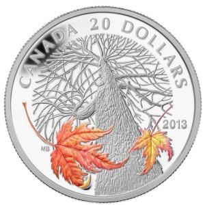 2013 Canada Autumn Maple Canopy B 300x300 - 2013 Canada $20 Autumn Maple Canopy Silver Coin