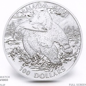 Grizzly A 300x300 - 2014 Canada $100 The Grizzly Pure Silver Coin