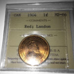 1904 MS66 150x150 - 1904 Canada Large Cent ICCS MS-66 RED