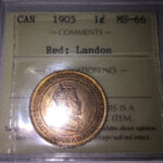 1905 MS66 150x150 - 1905 Canada Large Cent ICCS MS-66 RED