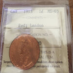 1913 MS65R Landon 1 150x150 - 1913 Canada Large Cent ICCS MS-65 RED