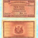 1945 10 Shillings Note 150x150 - South Africa 1945 MH De Kock Ten Shillings E77 462854 F-VF