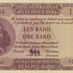 1961 UNC Serial AI000063 A 150x150 - South Africa One Rand (Een Rand) A1000063 1961 Banknote UNC Condition - LOW SERIAL NUMBER