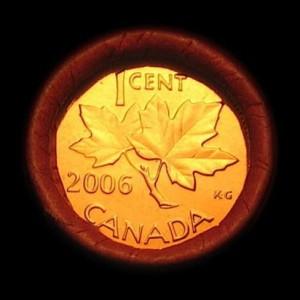 2006 PENNY ROLL 300x300 - 2006 Canada 1-Cent No P No RCM Logo Zinc Roll