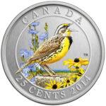 2014 25C EASTERN MEADOWLARK 150x150 - 2014 Canada 25c Eastern Meadowlark Specimen - Birds of Canada