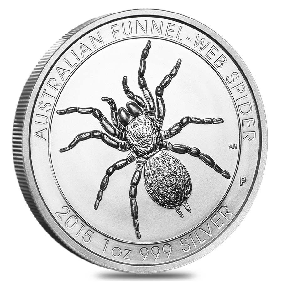 2015 Funnel Web A - 2015 Australian Funnel Web Spider 1oz Fine Silver Coin