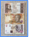 3 Notes B 150x150 - South Africa Lot of 3 AU-UNC Twenty Rand Banknotes