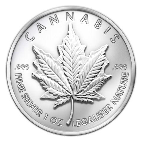 2013 Sbss Cannabis 0 999 1oz Fine Silver Round