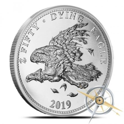 Dying Eagle A - 2019 Zombucks Dying Eagle 1oz Fine Silver Round