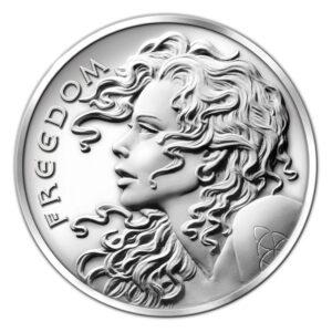 Freedom Girl E 1 300x300 - 2013 SBSS Freedom Girl 0.999 1oz Proof Medallion