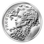 Freedom Girl E 150x150 - 2013 SBSS Freedom Girl 0.999 2oz Fine Silver Round