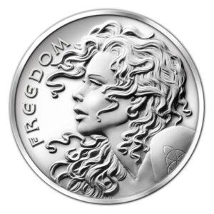 Freedom Girl E 300x300 - 2013 SBSS Freedom Girl 0.999 2oz Fine Silver Round