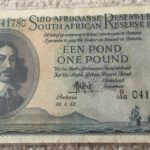 IMG 041780 150x150 - South Africa One Pound (Een Pond) MH De Kock 1952 B146 041780 Banknote Circulated Condition