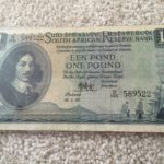IMG 589522 150x150 - South Africa One Pound (Een Pond) MH De Kock 1952 B146 589522 Banknote Circulated Condition