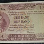 R1 G Rissik UNC 1st Issue A117 489137 A 150x150 - South Africa One Rand (Een Rand) G Rissik A117 489137 Banknote EF-AU Condition