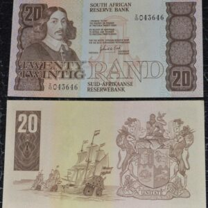 R20 UNC G De Kock Replacement Z10 043646 300x300 - South Africa Twenty Rand GPC De Kock 3rd Issue RARE Replacement Note Z10 043646 UNC Condition