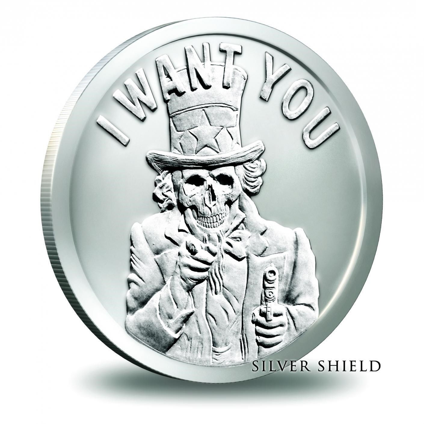 Slave Uncle A - 2014 Silver Shield Slave Uncle 1oz BU Fine Silver Round