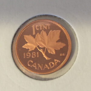 1981 Proof R 300x300 - 1981 Canada Penny Proof w/Frosted Finish