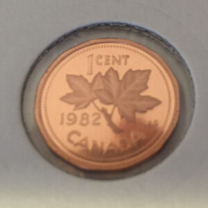 1982 Proof R 300x300 - 1982 Canada Penny Proof w/Frosted Finish