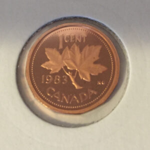 1983 Proof R 300x300 - 1983 Canadian Penny Proof w/Frosted Finish