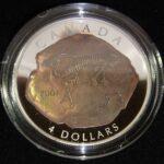 2007 Parasaurolophus 150x150 - 2007 $4 Canada Parasaurolophus Fossils of Canada 0.999 1oz Fine Silver coin
