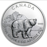 2011 5 GRIZZLY 1OZ PURE SILVER COIN FRONT 150x150 - 2011 Canda $5 Grizzly 1oz Pure Silver Coin