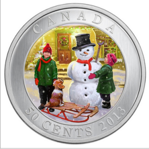 2011 50C SNOWMAN FRONT 300x300 - 2013 Canada 50c Snowman Lenticular Coin