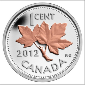 2012 1C FAREWELL TO THE PENNY 0.5OZ FINE SILVER with SELECTIVE PINK GOLD PLATING CoA 13570 300x300 - 2012 Canada 1/2oz Fine Silver Penny with Selective Pink Gold Plating