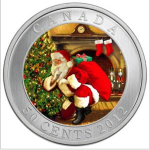 2012 50C SANTAS MAGICAL VISIT FRONT 300x300 - 2012 Canada 50-cent Santa's Magical Visit Lenticular Coin