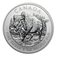 2013 5 WOOD BISON 1OZ PURE SILVER COIN FRONT 185x185 - 2013 Canada $5 Wood Bison 1oz Pure Silver Coin