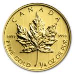 2013 MAPLE LEAF 1 4oz 0.999 FINE GOLD Front 150x150 - 2013 MAPLE LEAF 1/4oz 0.999 FINE GOLD