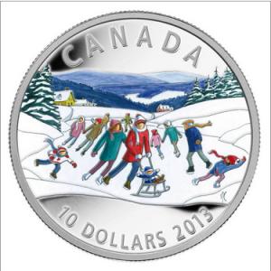 2014 10 WINTER SCENE PURE SILVER COIN FRONT 300x300 - 2014 $10 Winter Scene 1oz 0.999 Fine Silver Coin