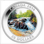 2014 20 RIVER RAPIDS PURE SILVER COIN FRONT 150x150 - 2014 CANADA $20 RIVER RAPIDS PURE SILVER COIN