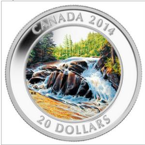 2014 20 RIVER RAPIDS PURE SILVER COIN FRONT 300x299 - 2014 CANADA $20 RIVER RAPIDS PURE SILVER COIN