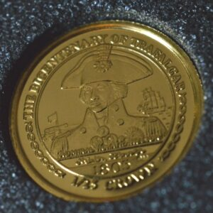 Admiral Nelson A 300x300 - 2005 Isle of Man Lord Nelson 1/25oz 0.999 Fine Gold Proof Coin