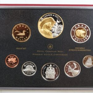 Quebec City Set 300x300 - 2008 400th Anniversary of Quebec City Proof Set with Commemorative Silver Dollar