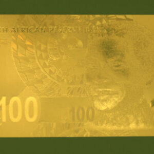 Mandela R100 Gold plated note 300x300 - South Africa One Hundred Rand 24K Gold PF UNC Nelson Mandela Banknote