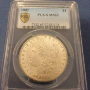 1882 P Morgan OBV e1490902764724 scaled 185x185 - 1882 MORGAN DOLLAR PCGS CERTIFIED MS-63