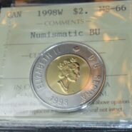 1998W Toonie MS66 185x185 - 1998-W Canada $2 - ICCS MS-66 Numismatic BU