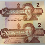 2 uncut scaled 185x185 - Duo of $2 UNC Uncut Banknotes